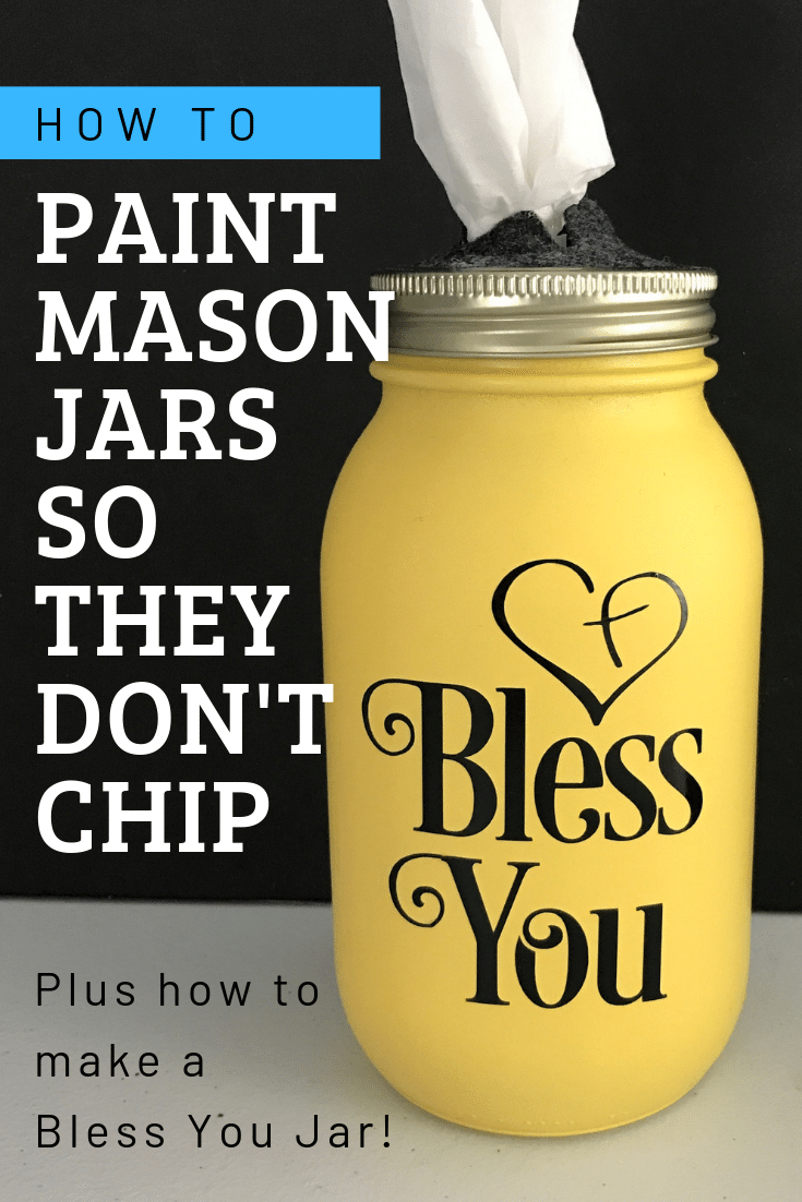 How to Paint Mason Jars so they Don't Chip #masonjarcrafts