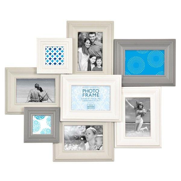 Madeira VI Multi Photo Frame - White and Grey | House ideas ...