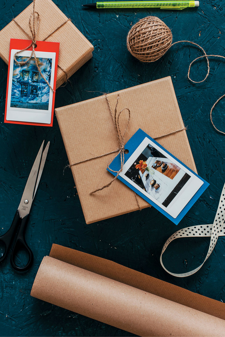 c32708055c Personalize your gifts this year with these DIY gift tags with Polaroid  photos.
