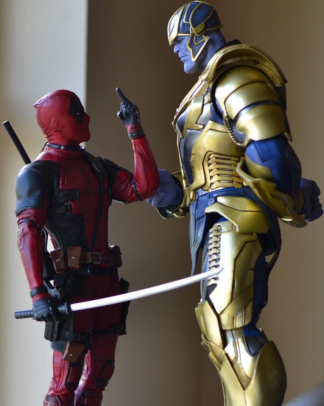 Marvel Deadpool Ausmalbilder Gratis: Deadpool Or Thanos??? . Toy Art By @seattlegeek . Pics Via