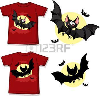 kid Shirt mit niedlichen Vampir gedruckt - auf wei�, Vorder-und R�ckseite Ansicht isoliert photo