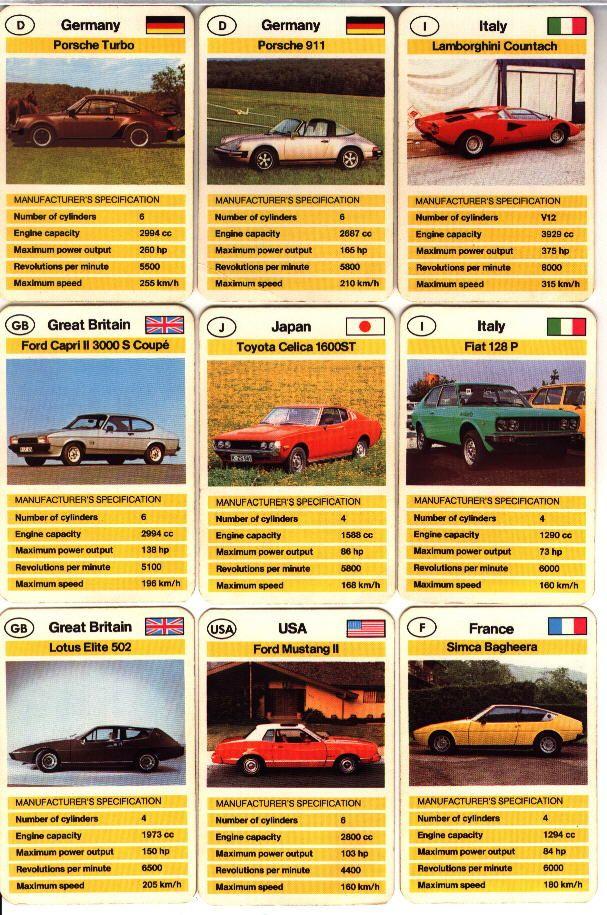 Top Trumps Sports Cars Cars Pinterest Top Trumps - Sports cars top trumps