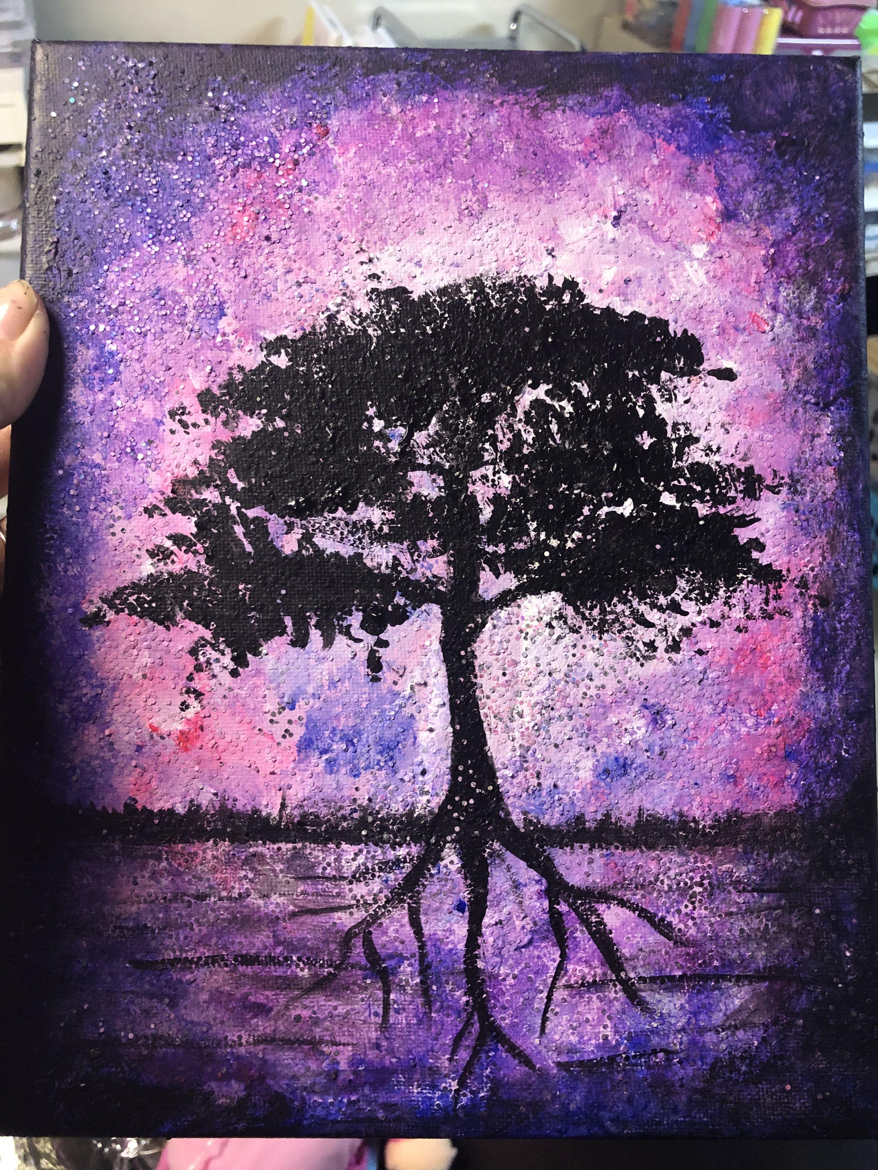 Diy Cosmos Tree Of Life Painting Tree Of Life Painting Tree Art Cosmos Art