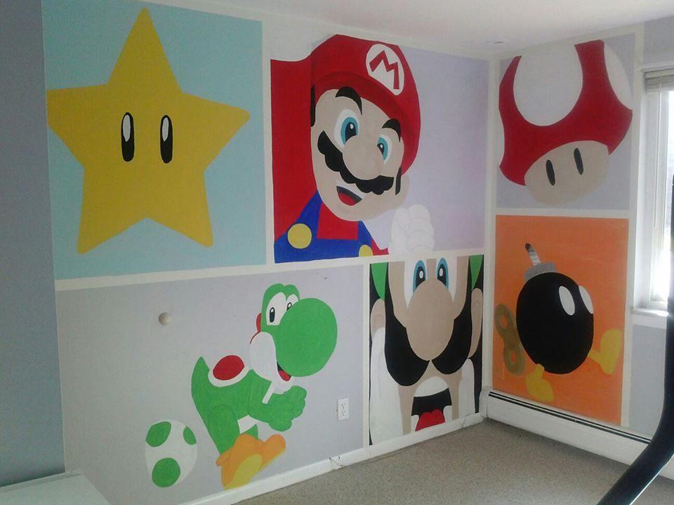 My boys 39 new super mario bro bedroom chambre geek - Deco chambre mario ...