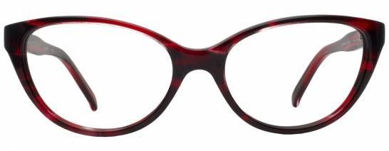 Designer Eyeglasses - Spitfire frame in Cherry-Bomb, front view, Rivet & Sway