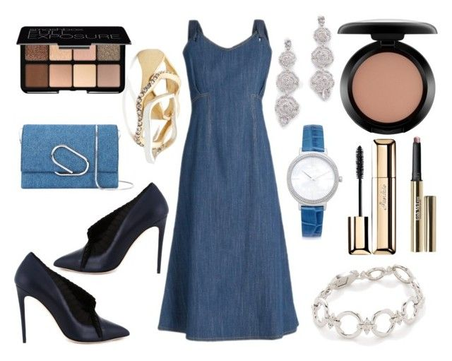 """""""Jeans Outfit"""" by hillarymaguire ❤ liked on Polyvore featuring ADAM, MAC Cosmetics, Trish McEvoy, Guerlain, Smashbox, Kate Spade, Michael Kors, Noir Jewelry, Madewell and Olgana"""