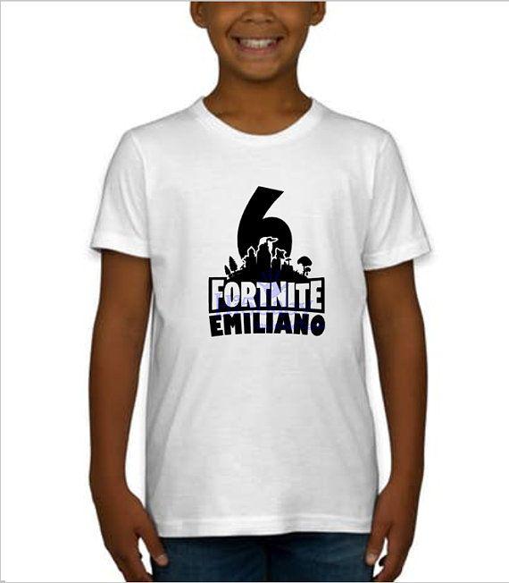a3bf4f79e Kids Fortnite Birthday Shirt | Products in 2019 | Birthday shirts ...