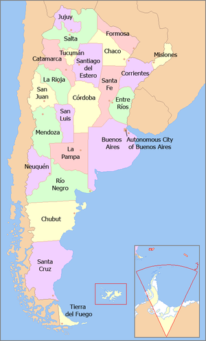 Provinces Of Argentina Yes I Think To Myself What A Wonderful - Map 0f argentina