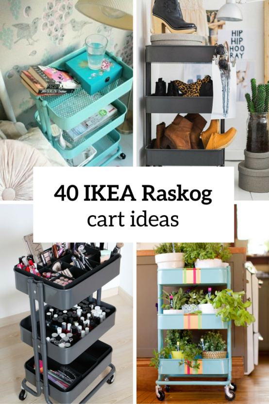 40 smart ways to use ikea raskog cart for home storage diy pinterest inspiration salon. Black Bedroom Furniture Sets. Home Design Ideas