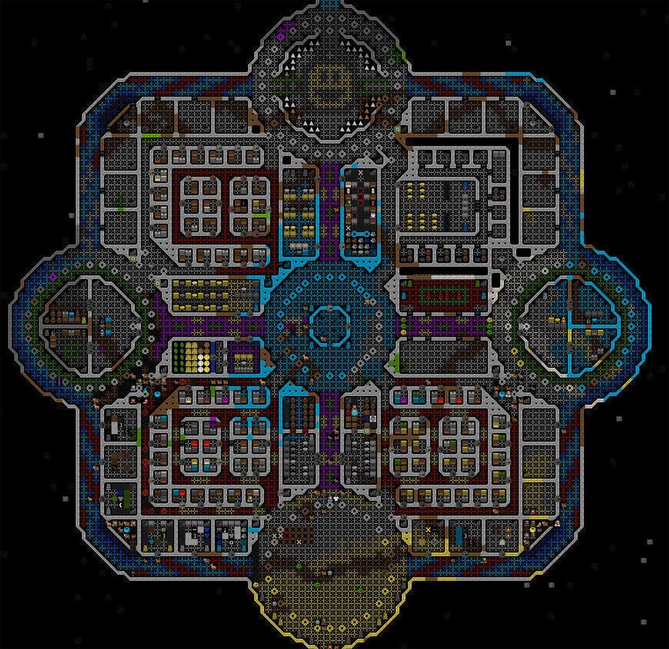 Critique My Fort: Roadtruss (completed Mega project) | Dwarf ...