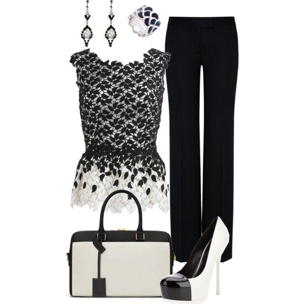 """Black and White"" by zeinab-adel on Polyvore"