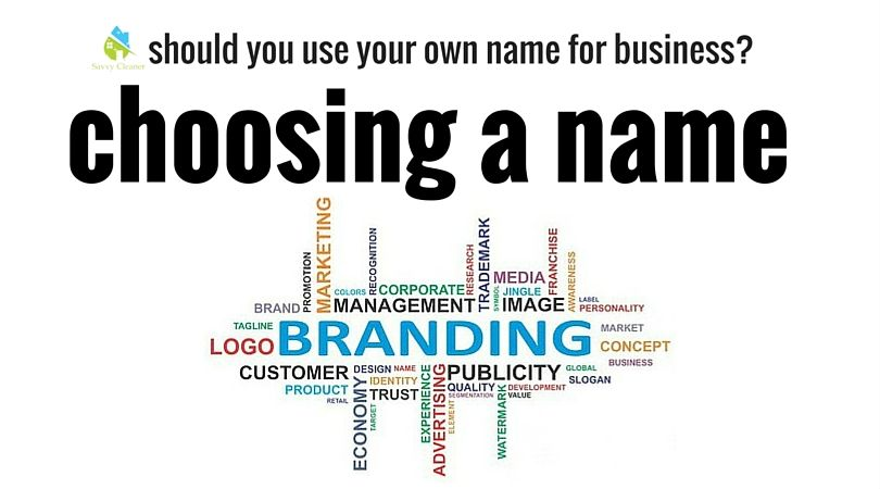 Choosing a company name savvycleaner cleaning company