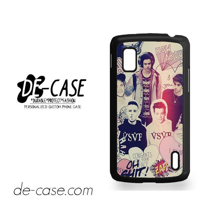 One Direction Photo Art For Google Nexus 4 Case Phone Case Gift Present YO
