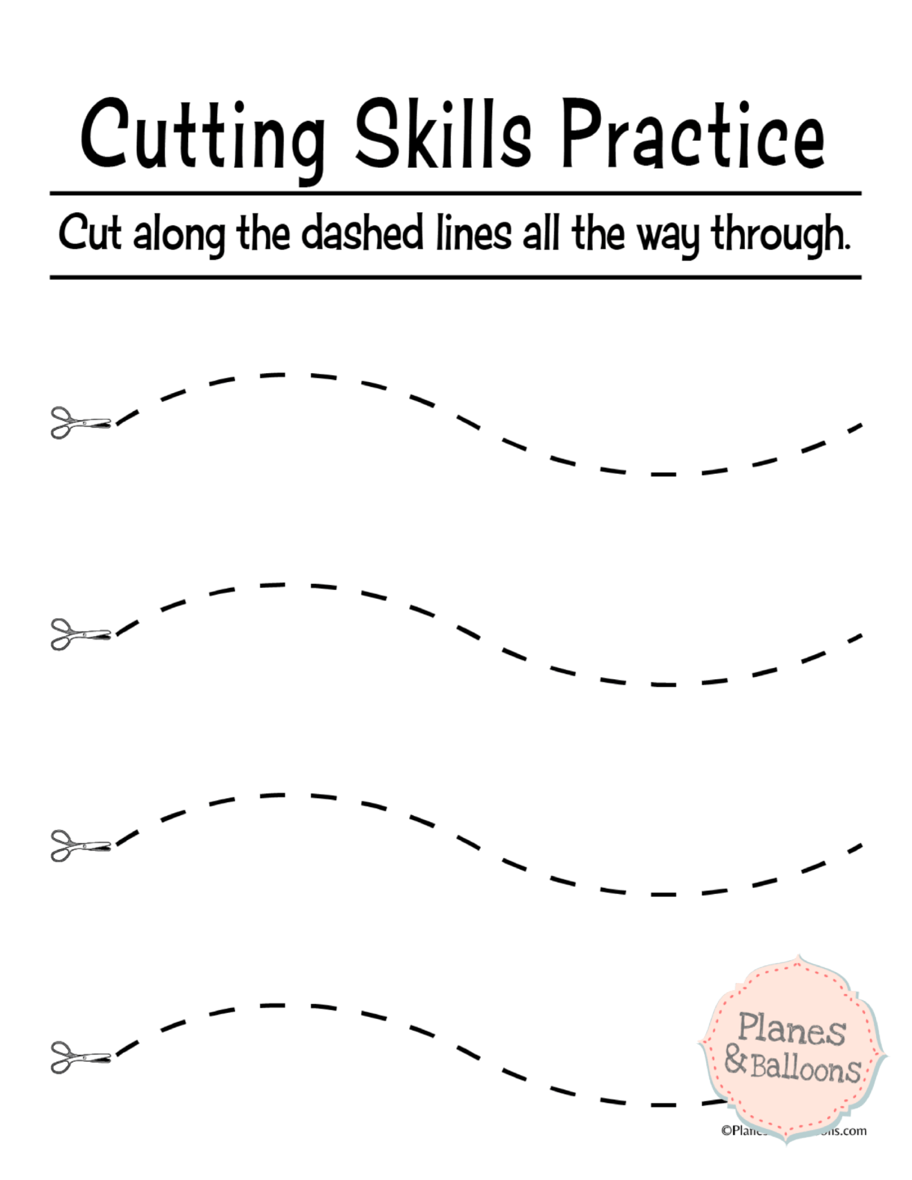Ready To Go Exercises For Preschool Cutting Practice