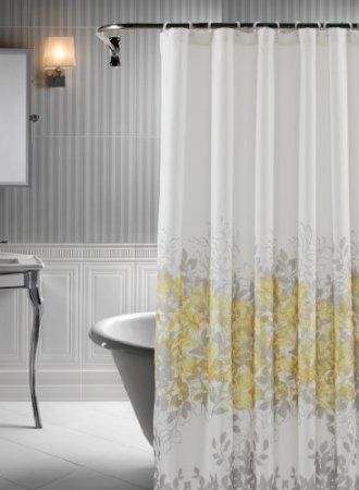 Amazon Rainforest 14 Piece Shower Curtain Set In Grey And Yellow Home Kitchen