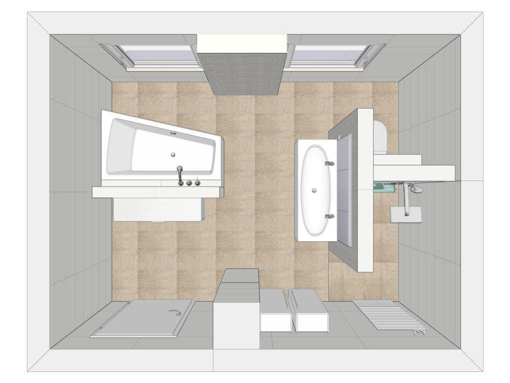 Moderne Badezimmer Bilder: Grundriss