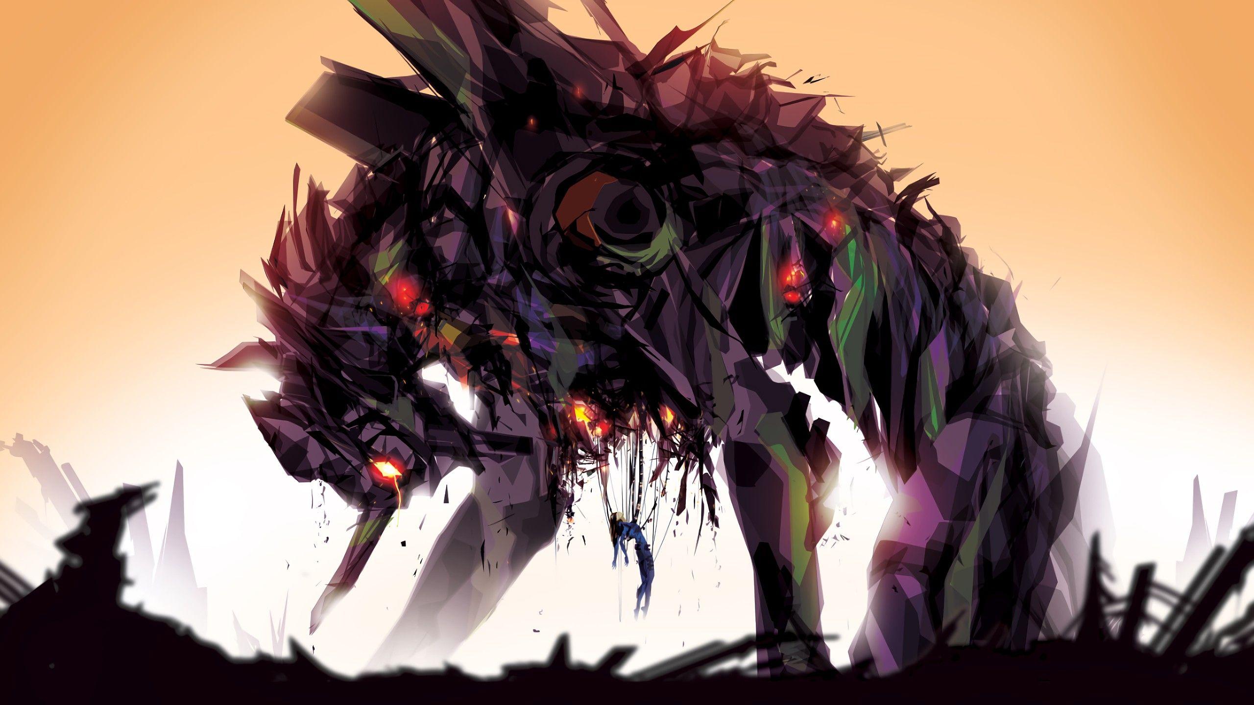 Anime 2560x1440 Neon Genesis Evangelion mech EVA Unit 01