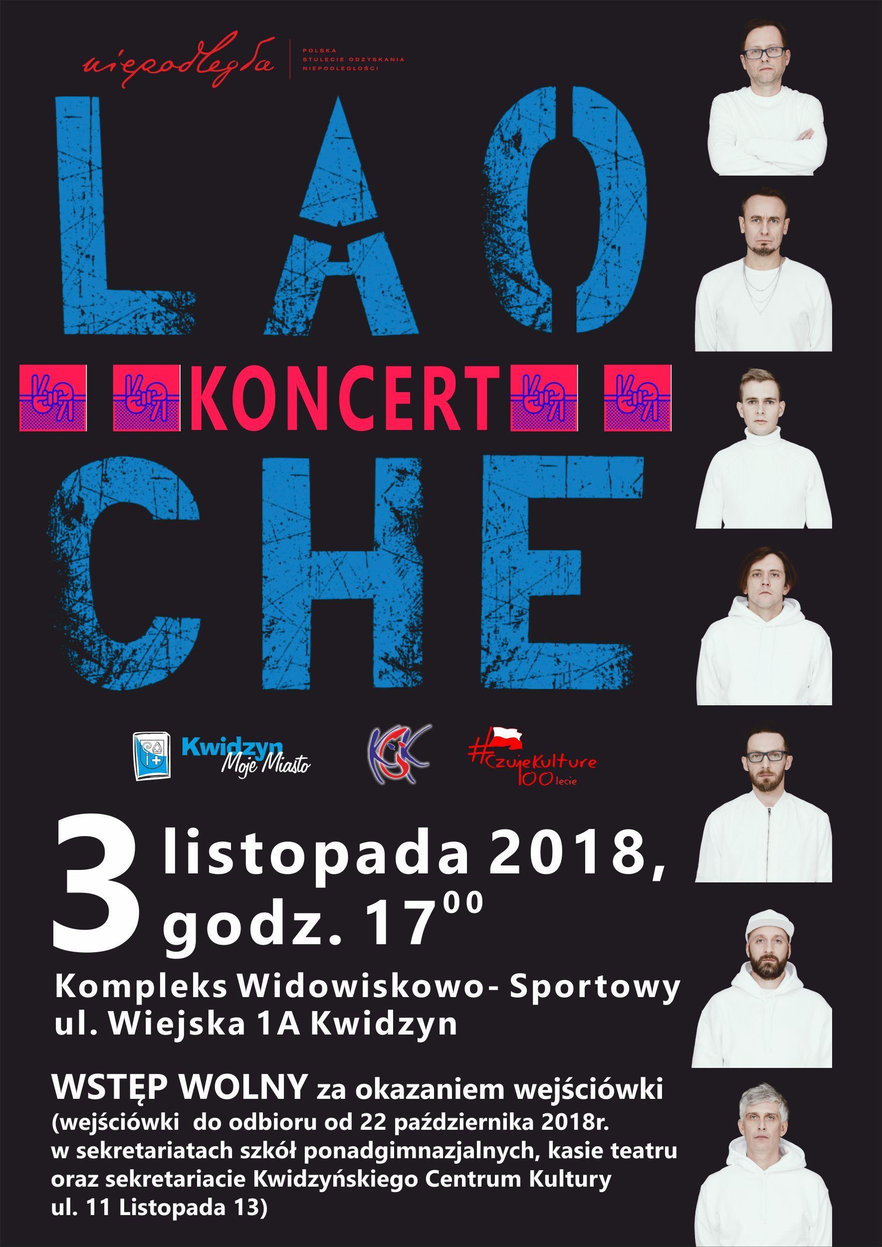 Koncert Lao Che 3 Listopada 2018 R Plakaty Movie
