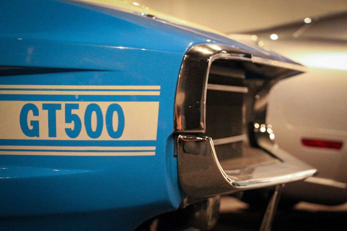 Mustangs Forever at the Petersen Museum 1970 Shelby GT500 grille