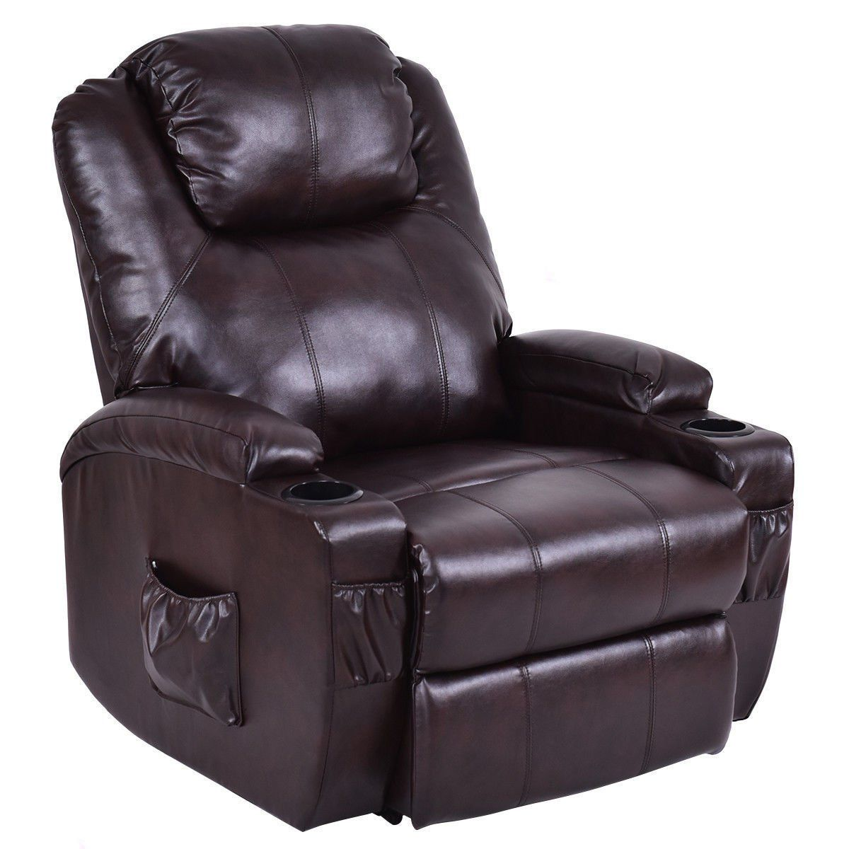 Recliner Sofa Electric Power Lift Chair With Remote Cup Holder Pu