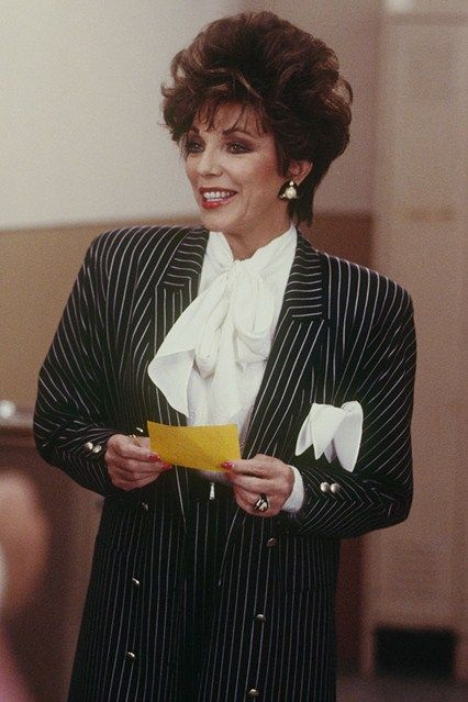 joan collins in the 80 39 s power suit the 80 39 s in 2019. Black Bedroom Furniture Sets. Home Design Ideas