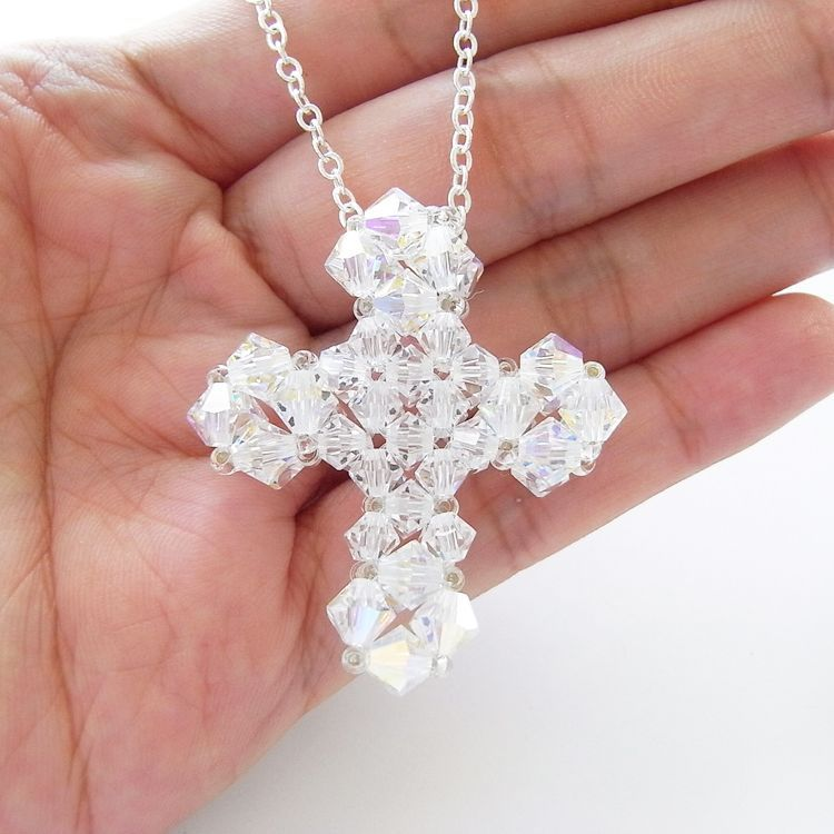 Beaded cross pendant tutorial beads pattern pinterest beaded cross pendant tutorial aloadofball Choice Image