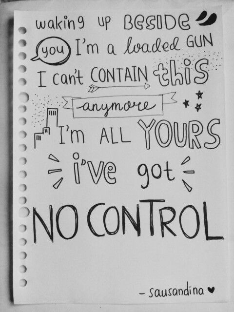 One Direction Drawing Quotes No Control lyri...