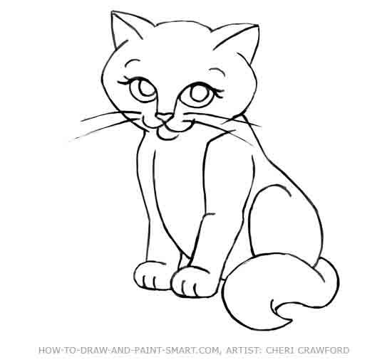 How to Draw a Cat Face Step 11  How to Draw  Pinterest  Cute
