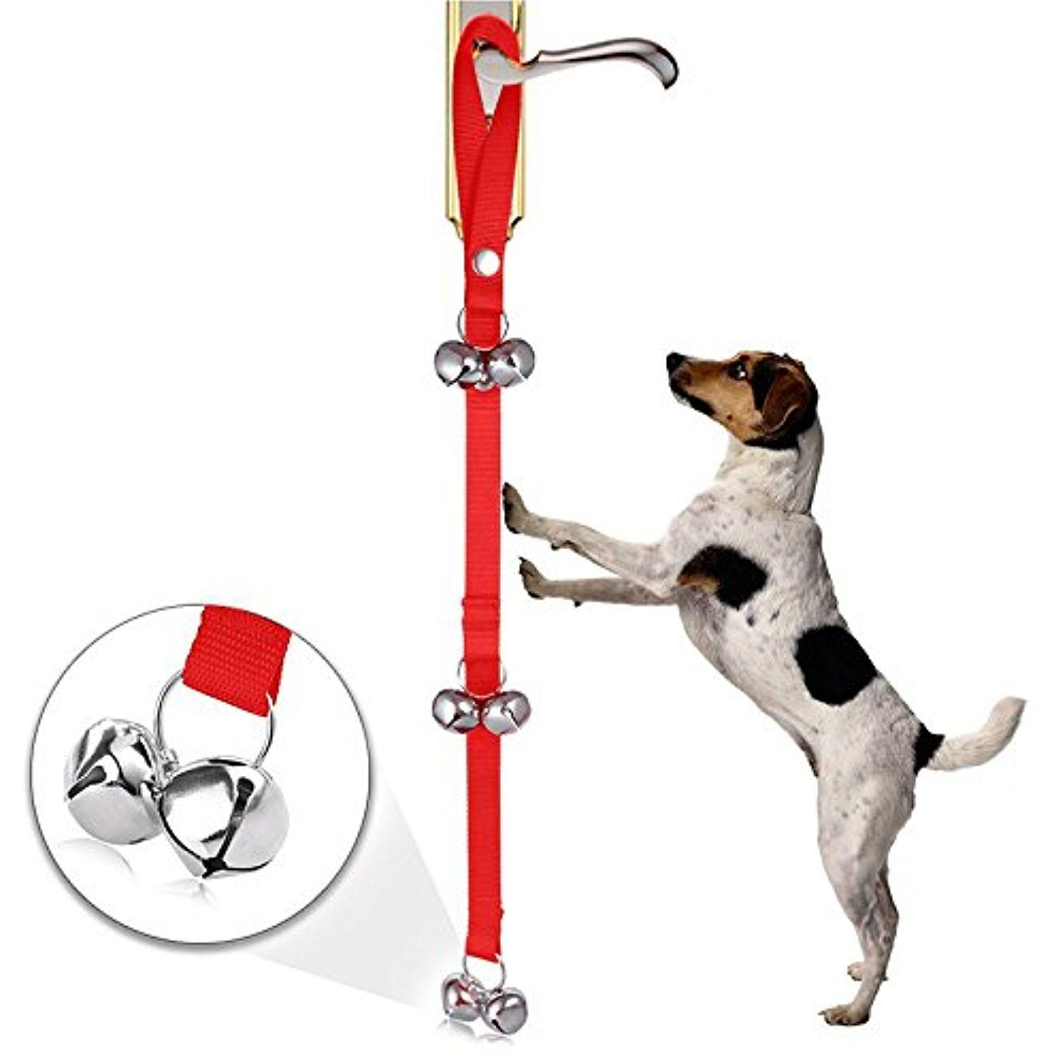 Lipovolt Adjustable Pet Dog Door Bells Potty Training Puppy Doorbell