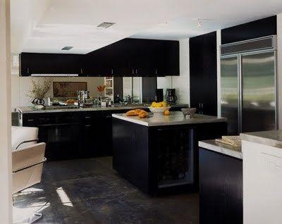 Gabinetes de Cocina Negros . El estilo contemporáneo ha logrado ...