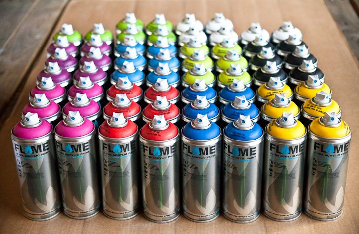 Art Primo: Flame Blue 60-Can Crew Pack [Spray Paint Packs