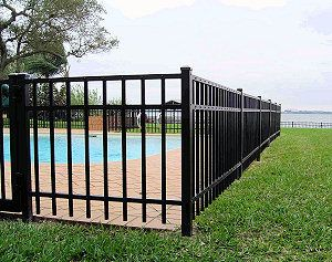 Metal Fences And Aluminum Viking Fence And Deck Metal Fence Backyard Fences Door Gate Design