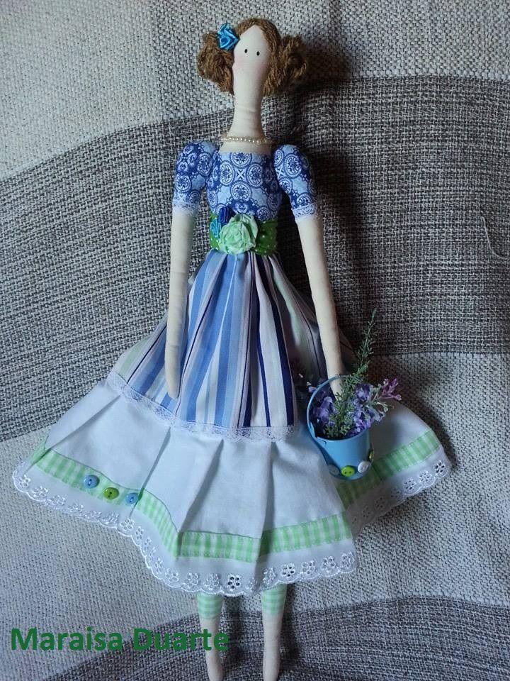 Minha primeira boneca estilo Tilda!