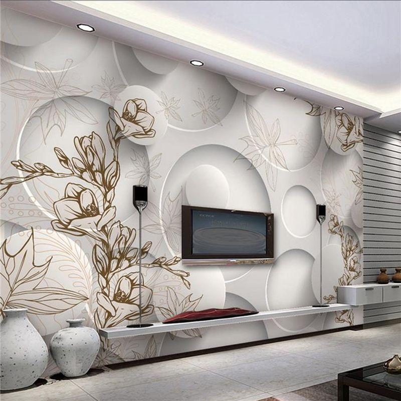 Continental Minimalist Living Room TV Background Wallpaper 3d Stereo  Seamless Art Deco Wallpaper Bedroom Mural Wallpaper