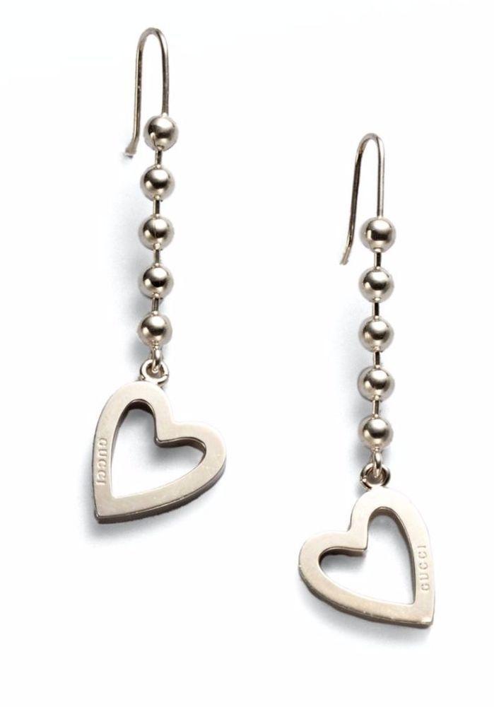 Gucci Feline GG-heart drop earrings dGzvRsE