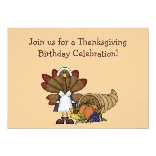 Thanksgiving birthday invitation thanksgiving birthday thanksgiving birthday invitation stopboris Image collections