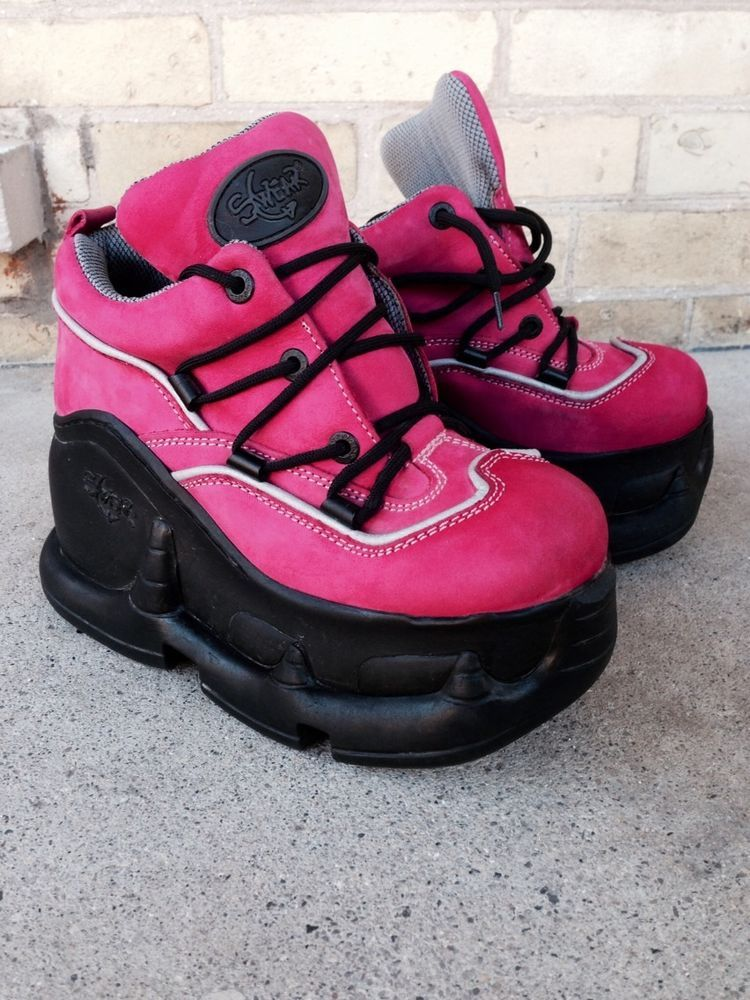Pink Swear Alternative Air Platform Boots/Shoes Goth