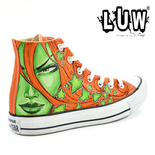converse shoes dc comics poison ivy hot animated women
