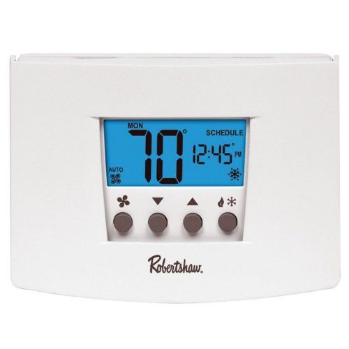 Robertshaw Rs4220 2 Heat 2 Cool Universal Digital Non Programmable Multistage Thermostat By Robertshaw 48 5 Home Thermostat Programmable Thermostat Heat Pump