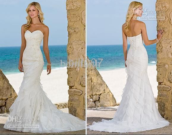 Beach Wedding Dresses Mermaid