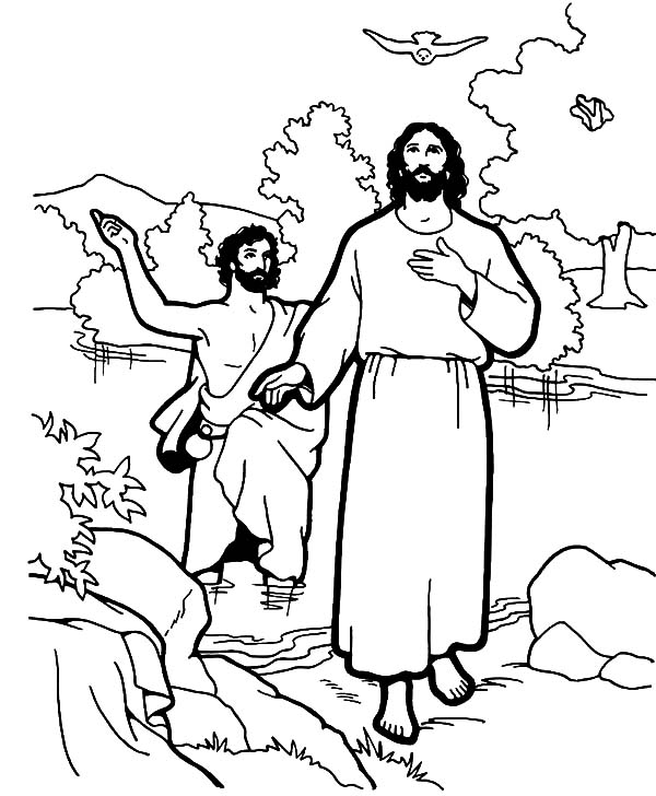 John The Baptism In Life Of Jesus Coloring Pages Best Place To Color Jesus Coloring Pages Coloring Pages Baptism