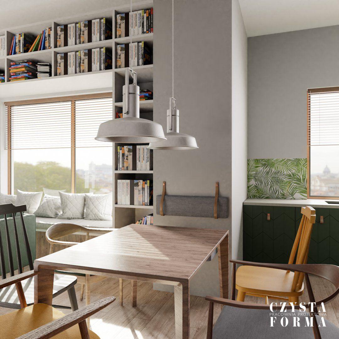 Greenery interior / Green kitchen / Grey kitchen / Green