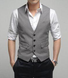 black pants gray vest groomsmen - Google Search