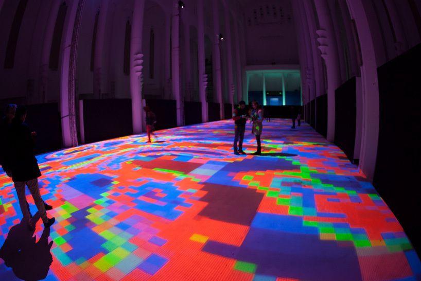 Interactive Light Display Turns Floor Of Moroccan Church Into