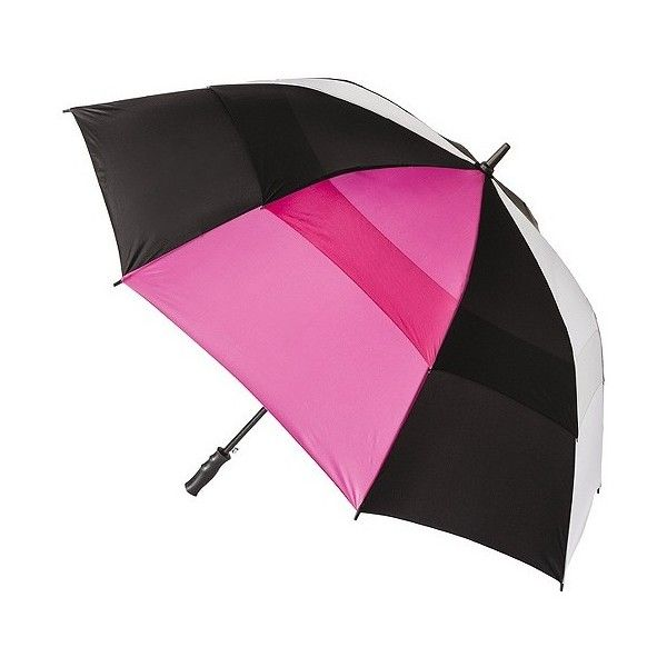 5d5e7481463c totes Double Canopy Golf Stick Umbrella - Multicolor, Black/White ...