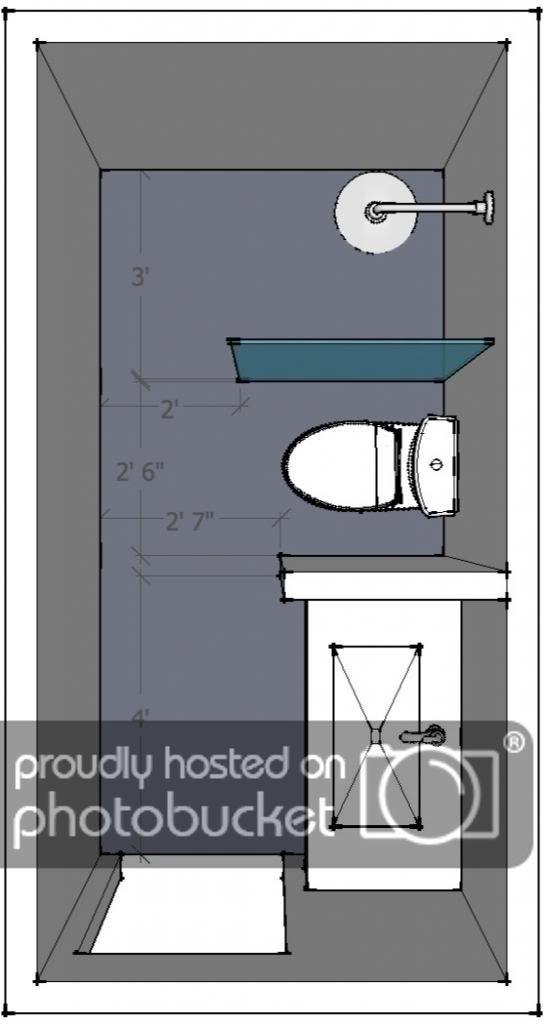 9 X 5 Bathroom Layout ห องน ำขนาดเล ก ด ไซน ห องน ำโมเด ร น ไอเด ยห องน ำ