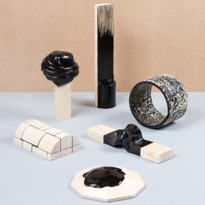 Thomas Vailly unveils product collection made from black resin and pine