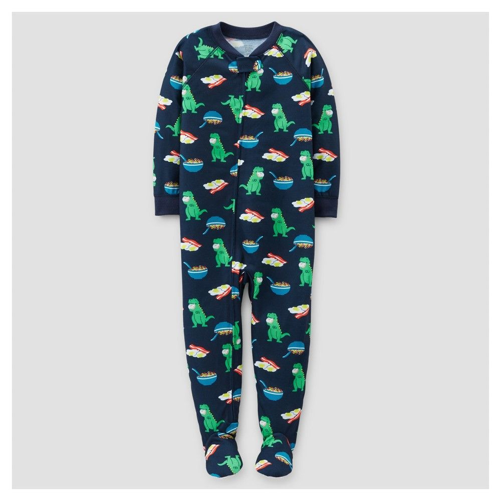 Carters Toddler Boys Dinosaur Cotton Footed Pajama Sleeper