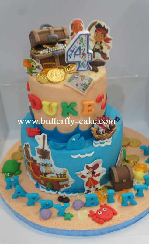 Jake And The Neverland Pirates Cake | Butterfly Cake: Two ...