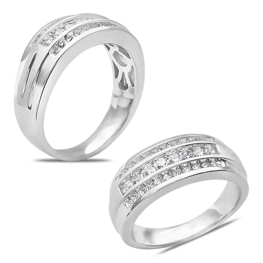 Ebay nissonijewelry presents menus ct diamond triple row